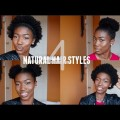 EASY-CUTE-HAIRSTYLES-For-ShortThick-NATURAL-HAIR-Afro-Double-Puff-High-Puff-The-Crown