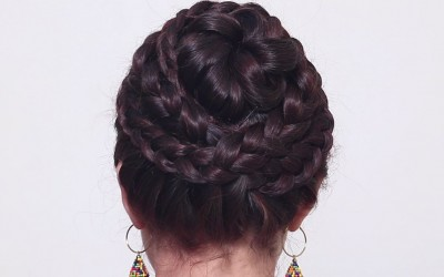 Easy-Layered-Flower-Bun-Hairstyle-Easy-Hairstyles-Womens-Tips