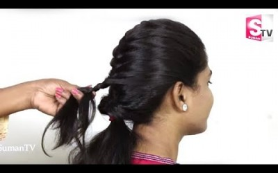 Easy-Simple-French-Braid-Low-Pony-Casual-Hairstyle-For-Short-HairGirls-Poni-braid-hairstyles.