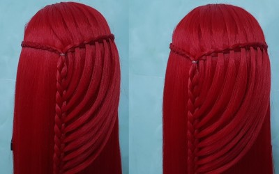 How-to-make-Braid-Easy-Waterfall-Simple-Hairstyle-for-Everyday-Long-Hair