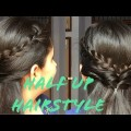 QuickEasy-Half-Up-Hairstyle-for-ShortMediumLong-Hair-Summer-Hairstyle-for-SchoolCollegeOffice