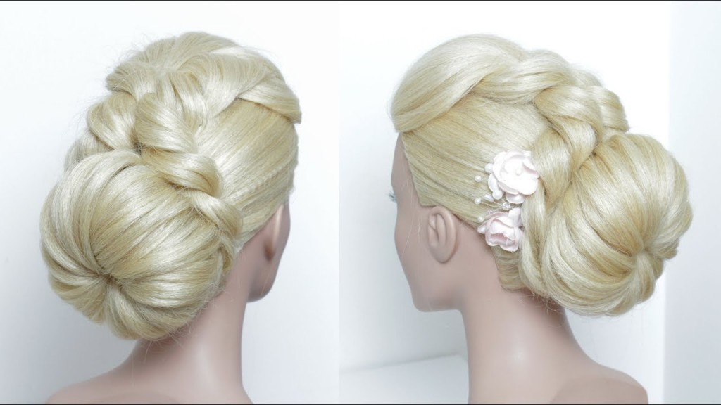 Simple Bun Hairstyle For Long Hair Juda Party Style