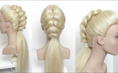 Simple-Ponytail-With-Puff.-New-Hairstyle-For-Long-Hair-Tutorial
