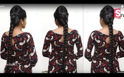 Simple-Trending-Hairstyles-For-long-Hair-For-Treditional-sarees-New-PuffEveryday-Hairstyles-