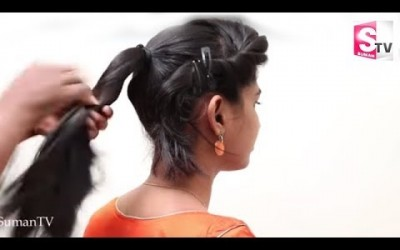 Stylish-Ponytail-Hairstyle-with-Puff-Side-Braided-Hairstyle-For-Short-Hair-Tutorial