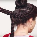 wedding-hairstyle-for-long-hair-Party-updo-hairstyle-tutorial-Knot-hairstyles