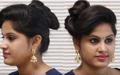Beautiful-and-Simple-Hairstyle-for-Occasions-Everyday-Hairstyle-for-Long-hair-Akshaya-Fashions