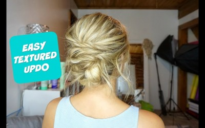 EASY-TEXTURED-UPDO-Hairstyle-for-Short-Medium-and-Long-Hair