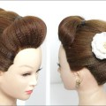 Easy-Bun-Simple-Juda-Hairstyle-For-Long-Medium-Hair