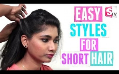 Easy-Wavy-Half-Updo-With-Twist-Hairstyles-For-Short-HairQuick-and-Easy-Hairstyles-2018.