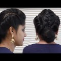 Letest-Two-Side-TwistMidile-Braid-Party-bun-hairstyle-For-Long-Hair.