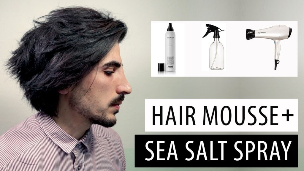 Mens Hair Tutorial Messy Hairstyle With Hair Mousse And Sea Salt