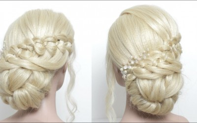 Messy-Bun-Hairstyle-For-Long-Hair.-Braided-Juda-Style