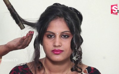 Super-Easy-Hairstyles-for-2018-3-Step-Simple-Hairstyle-For-Short-Hair-On-Saree-For-Curly-Hair.