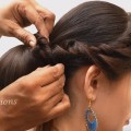 Traditional-Bun-hairstyle-for-WEDDING-PARTY-Bun-hairstyle-for-MEDIUM-LONG-hair-DIY-Bun