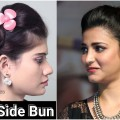2-Minute-Side-Bun-Hairstyle-Lovely-Bun-Hairstyles-For-Long-Hair