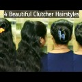 4-quick-clipclutcher-bun-hairstyles-everyday-simple-hairstyles-hairstyles-for-girl
