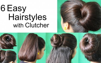 6-Super-Hairstyles-by-using-Clutcher-Hairstyles-for-medium-or-long-hair