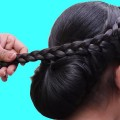 BEAUTIFUL-BRAIDED-FLOWER-BUN-HAIRSTYLE-FOR-LONG-HAIR-Side-Braid-Bun-Hairstyle-Hair-style-girl