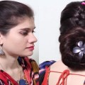 Everyday-Perfect-Bun-Updo-Hairstyle-for-Medium-Long-Hair-Akshaya-Fashions