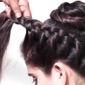 Quick-Bridal-hairstyle.-Ladies-hairstyle-videos-2018.-Wedding-updo-for-long-hair-tutorial-2018