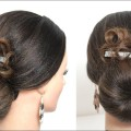 Simple-Juda-Hairstyle.-Party-Bun-For-Long-Medium-Hair
