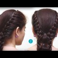 simple-two-side-braid-ponytail-hairstyle-With-Bands-for-long-hair-step-by-step-Tutoreials.