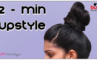 2-Minute-High-BUN-Hairstyle-Easy-Hairstyles-for-Medium-Long-Hair-Bun-Hairstyles