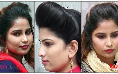3-Beautiful-Hairstyles-With-Puff-Everyday-Quick-and-Easy-Puff-Hairstyles-For-Long-Hair