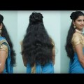 Amazing-Half-Bun-Half-Down-Hairstyles-For-Long-Hair-Hairstyle-Ideas-for-Saree.