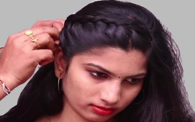 Beautiful-Side-Braid-Hairstyle-Hairstyle-for-Medium-Long-Hair-Indain-Wedding-Guest-Hairstyle