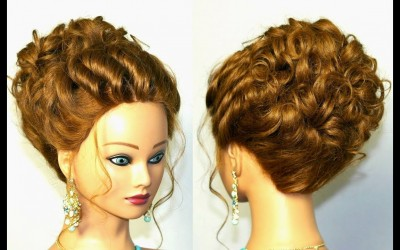 Bridal-hairstyle-for-long-hair-tutorial-Updo-for-wedding-