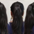 Easy-Evereyday-Ponytail-Hairstyles-for-Medium-to-long-Hair-for-Round-Face.
