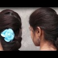 Easy-Prom-updo-Hairstyles-for-long-hair-tutorial-With-Indian-Outfit.