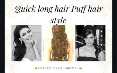 Easy-puff-hairstyle-quick-long-hair-everyday-1-minute-simple-puff-hairstyle