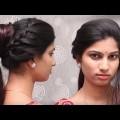 Latest-Different-Soak-Braided-Bun-Hairstyle-for-WeddingpartyFunction-for-long-hair.