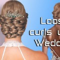 Loose-Curls-Updo-Wedding-Hairstyle-for-Long-Medium-Hair