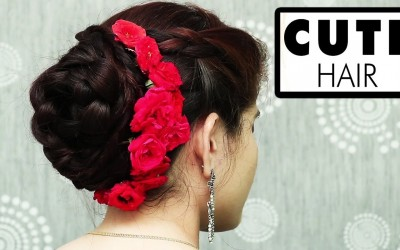 Quick-Bun-Flowers-Hairstyles-For-Long-Hair-Bridal-bun-hairstyles-Easy-Hairstyles-Step-by-Step