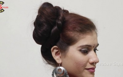 Quick-Easy-Bun-Hair-style-for-long-hair-Hairstyles-2018