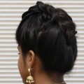 Quick-Indian-Bun-Hairstyle-for-Girls-Party-Hairstyles-for-mediumlong-hair-Hairstyle-Tutorials