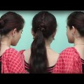 Self-Do-Hairstyles-For-Working-Women.Simple-Roll-Braide-Hairdo-ponytail-By-Self-Tutorial-2018.