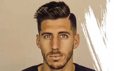 Short-Hairstyle-and-Haircut-Men-Cool-Pompadour-with-fade-soccer-style