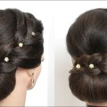 Simple-Bun-Updo-Hairstyle-For-Long-Hair-Tutorial