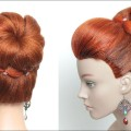 Simple-Flower-Bun-Hairstyle-For-Long-Hair.-Easy-Updo-Tutorial