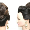 Wedding-High-Bun-Hairstyle.-Bridal-Updo-For-Long-Hair-Tutorial