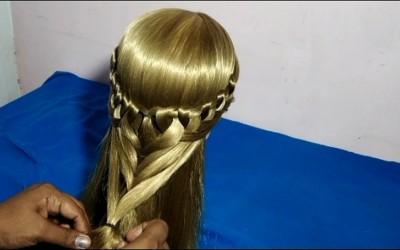 cute-hairstyle-for-girls-Heart-hairstyle-for-medium-long-hair
