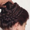 wedding-hairstyle-for-long-hair-Party-updo-hairstyle-tutorial-Knot-hairstyles-2018