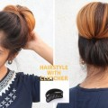1-Min-Hairstyle-With-Clutcher-For-Medium-To-Long-Hair
