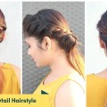 2-Quick-Easy-Low-Ponytail-Hairstyle-For-Medium-To-Long-Hair