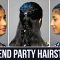 Cute-Party-Wear-Hairstyle-Easy-Hairstyles-For-Weekend-Party-And-Occasion-Ladies-One